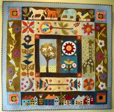 Folklore Wall Hanging by Kerry Green of kerrystitchdesigns on Etsy