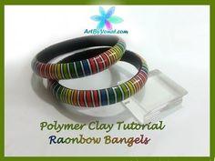 Polymer Clay Tutorial - Rainbow Bangels - Lesson #26 - YouTube