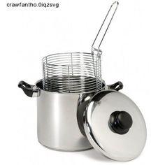 Deep Fryer Cookware Set Stove Top Cooker Fry Stockpot W/ Drain Basket New #Excelsteel
