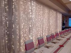 #wedding #esküvő #hochzeit #weddingdecoration #lightcurtain Curtain Lights, Wedding Decorations, Curtains, Lighting, Home Decor, Wedding, Blinds, Decoration Home, Room Decor
