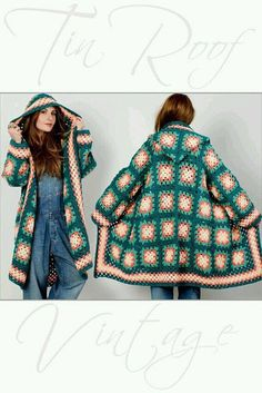 Transcendent Crochet a Solid Granny Square Ideas. Inconceivable Crochet a Solid Granny Square Ideas. Point Granny Au Crochet, Cardigan Au Crochet, Granny Square Sweater, Crochet Coat, Granny Square Crochet Pattern, Crochet Jacket, Crochet Squares, Crochet Shawl, Crochet Clothes