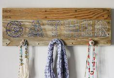 Happiness crafty : 16 DIY String Art