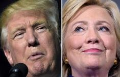 This combination of images shows Republican presidential nominee Donald Trump in Roanoke, Va., on Sept. 2016 and Democratic presidential nominee Hillary Clinton on Sept. 2016 in Orlando, Fla. Donald Trump, First Debate, Early Voting, Us Election, Presidential Candidates, The Guardian, Presidents, Things To Think About, Science