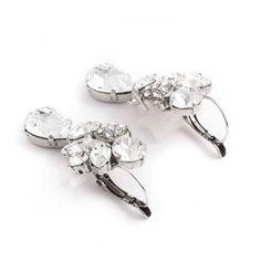 Opvallende fonkelende heldere oorbellen van Moliere Paris. Te koop bij Aurora Patina, de mooiste klassieke sieraden webshop van Nederland.