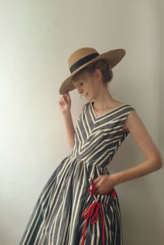 (Chevron Sundress.) She was all dressed up and ready for the derby, but all he could do was laugh and feel gay as she danced around the house with absolute joy. -ELN