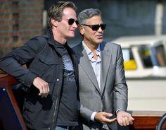 George Clooney with his best man Rande Gerber