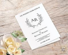 Wedding Program Folded Editable Template DIY Wedding Booklet