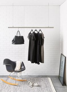 Airjust SOLO ® Hanging cloth rack Ceiling mounted   Etsy