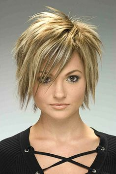 Funky short hairstyle, Funky Hairstyle for Women, Women Short Funky Hairstyle