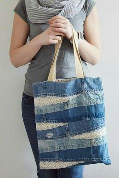 Use jeans scraps for this!