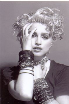 She had it going onnn...stacked .bracelets Rare Madonna 1980's