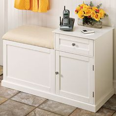 Solutions - Telephone Bench/Storage Cabinet