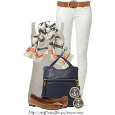 """""""Stripes & Anchors"""" by steffiestaffie on Polyvore"""