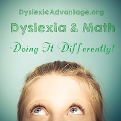 "Interesting finding from the brain research lab at Georgetown. ""The brains of children with dyslexia rely on unusual strategies to solve certain kinds of math problems, researchers report in NeuroI..."