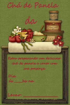 Convites de Chá de Cozinha para Imprimir Grátis - Toda Atual