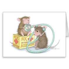 """""""8 Notecards  & 8 Envelopes"""", Stock #: N347B, from House-Mouse Designs®. This item was recently purchased off from our web site. Click on the image to see more information."""