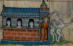 Detail from medieval manuscript, British Library Stowe MS 17 'The Maastricht Hours' f29r