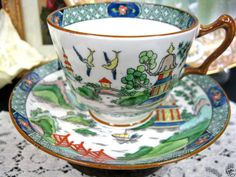 Crown Stafforshire cup and saucer