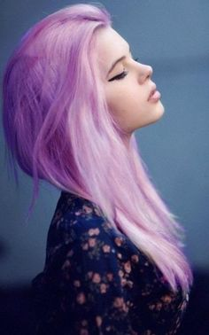 two tone lavender hair