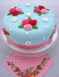 Cath Kidston stylee cake :D