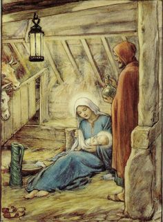 The Nativity Artwork by Cicely Mary Barker