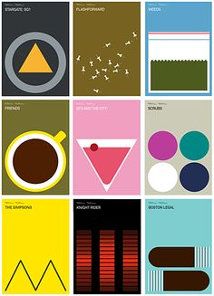 LOVE these TV inspired posters