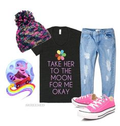 Take her to the moon for me- the feels!!! by gillian-ziegler on Polyvore featuring MANGO, Converse, disney, disneybound, skreened, insideout and BingBong
