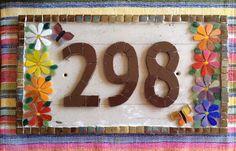 Trabalhos em Mosaico: Numero em Mosaico para Casa