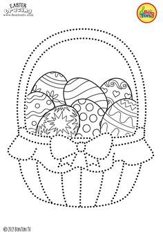 Easter Tracing and Coloring Pages for Kids - Free Preschool Printables and Worksheets, Fine Motor Skills Practice - Easter bunny, eggs, chicks and more on BonTon TV - Coloring books Easter Coloring Pictures, Easter Bunny Colouring, Easter Activities, Easter Crafts For Kids, April Preschool, Free Preschool, Coloring Pages For Kids, Coloring Books, Embroidery Patterns