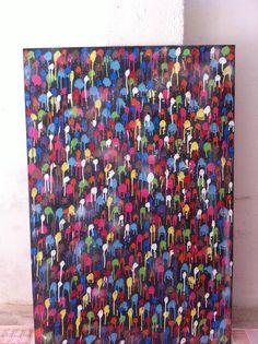 Colate Spray on canvas 80x120