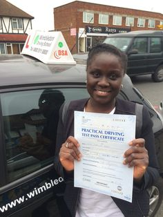 Well done to Marilyn from ‪#‎Streatham‬ who passed her test in ‪#‎Morden‬.