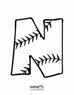 Printable Baseball Alphabet Letters Baseball Alphabet Letter N – Craft Jr. Alphabet Letters To Print, Alphabet Letter Crafts, Letter N, Preschool Alphabet, Letter Tracing, Alphabet Activities, Preschool Crafts, Diy Crafts, Baseball Letters