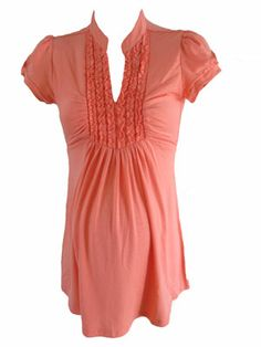Tuxedo in Coral by Siren Lily Maternity - Maternity Clothing - Flybelly Maternity Clothing