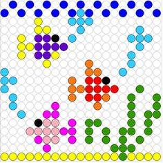 Kralenplank:  Visjes! Counting Activities, Preschool Activities, Paper Piecing, Retro, Perler Beads, Beading Patterns, Pixel Art, Quilt Patterns, Origami