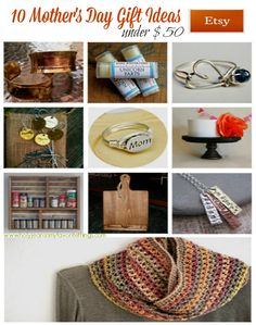 10 Mother's Day Gift Ideas under $50 from Etsy #MothersDayGiftGuideHJC