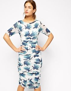 4da65d7eba4c Ganni Bandage Dress in Floral Print at asos.com