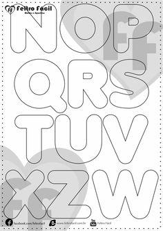 Molde de Letras - Selecionamos aqui nessa postagem moldes de letras para produções em feltro já editadas em tamanho natural!