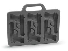 Is your drink packin' heat? Well, cool it down with these pistol-shaped ice. With Freeze! Pistol Ice Tray, you can pop a few rounds of the finely-tooled ice cubes into our beverages. They're just the thing for fully-loaded drinks! Ice Cube Molds, Ice Cube Trays, Ice Tray, Ice Cubes, Frozen Ice Cube, Freeze Ice, Wine Chillers, Kitchen Tools And Gadgets, Soap Molds