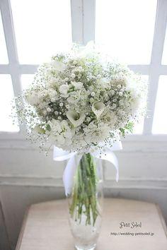 35 bouquets add color to your wedding beautiful wedding bouquets White Wedding Bouquets, Wedding Flower Arrangements, Bride Bouquets, Flower Bouquet Wedding, Floral Wedding, Floral Arrangements, Gypsophila Bouquet, Wedding Table Decorations, Flower Decorations