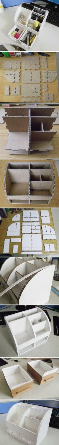 Make Your Own Docking Station/Launch Pad Organizer out of Cardboard --- Do I dare?