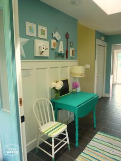 entry hall welcome in at thehappyhousie