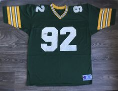 Reggie White PACKERS Jersey 90s Champion #92 Green Bay Mesh Football UsA Size 52 by sweetVTGtshirt on Etsy