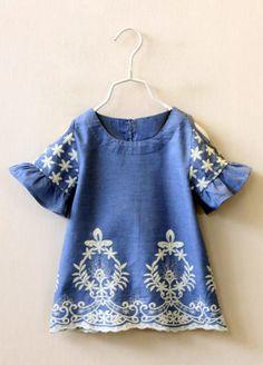 Boho Embroidered Dress | Knock Knock Closet on Etsy