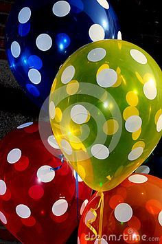 Polka dot balloons by Iperl, via Dreamstime