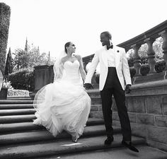 """A lot of men say your life is over once you get married. But when marriage is something you've looked forward to and always wanted, your life begins again.""💕 - Lance Gross, who recently married his love, Rebecca Jefferson #swoon #blacklovematters #lovestories #love #HU #bison #beautiful #couture"