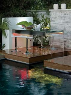 Table and waterfall