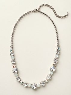 Graduated Classic Necklace in White Bridal by Sorrelli - $210.00 (http://www.sorrelli.com/products/NCP38ASWBR)