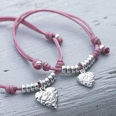Mummy & Me Heart Friendship Bracelet Set: