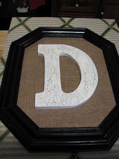 Burlap Letter Frame