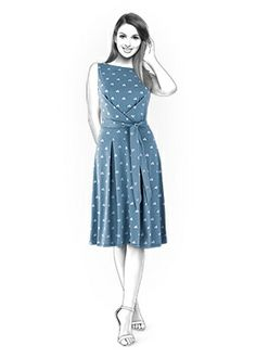 Dress - Sewing Pattern #4356. Made-to-measure sewing pattern from Lekala with free online download.